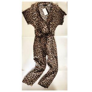 Zara Leopard Print / Animal Print Jumpsuit